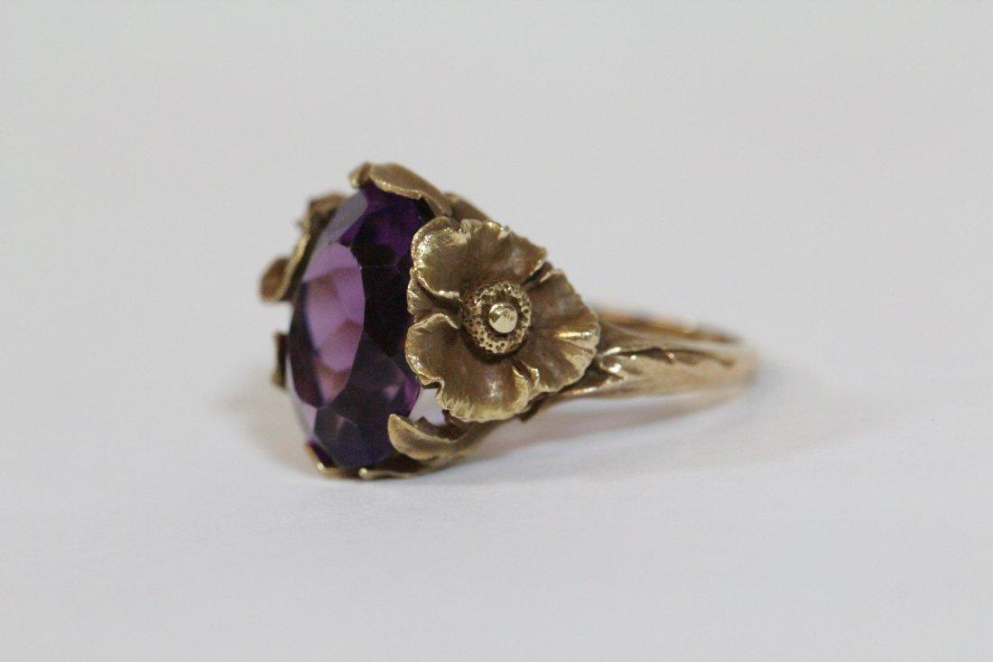 Victorian 14K Y/G amethyst ring - 2