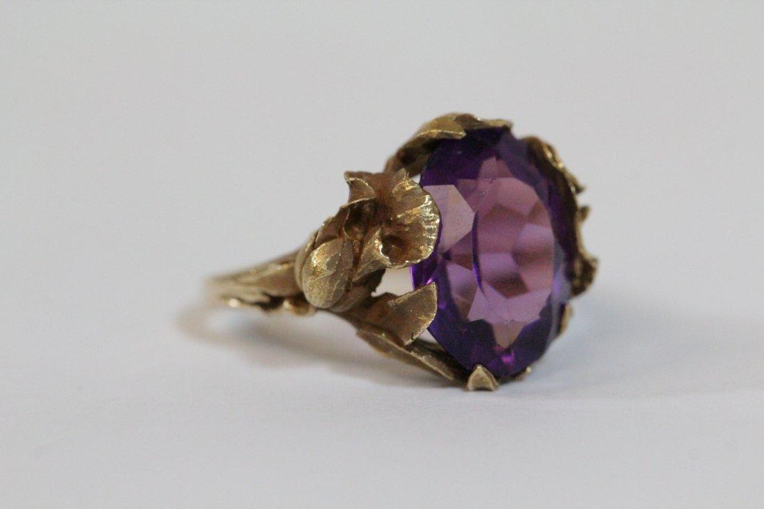 Victorian 14K Y/G amethyst ring - 3