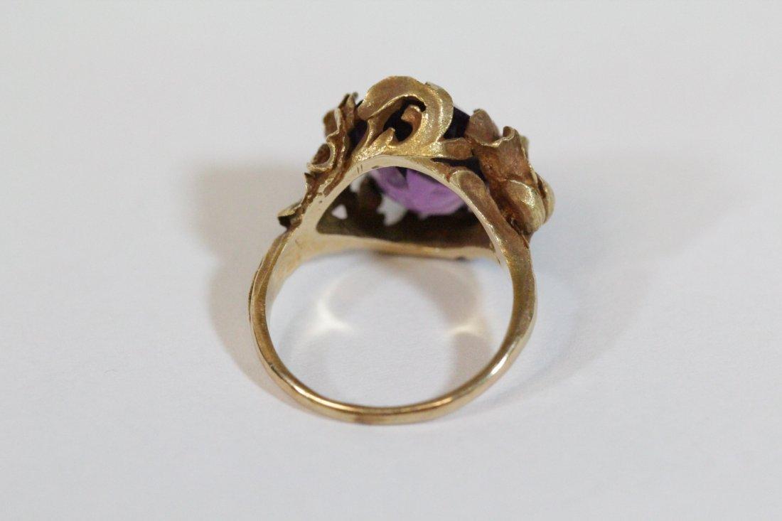 Victorian 14K Y/G amethyst ring - 5