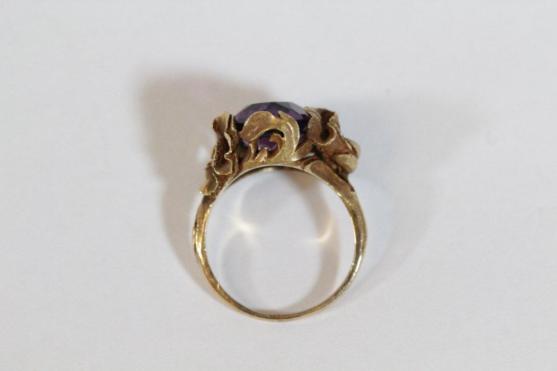 Victorian 14K Y/G amethyst ring - 7