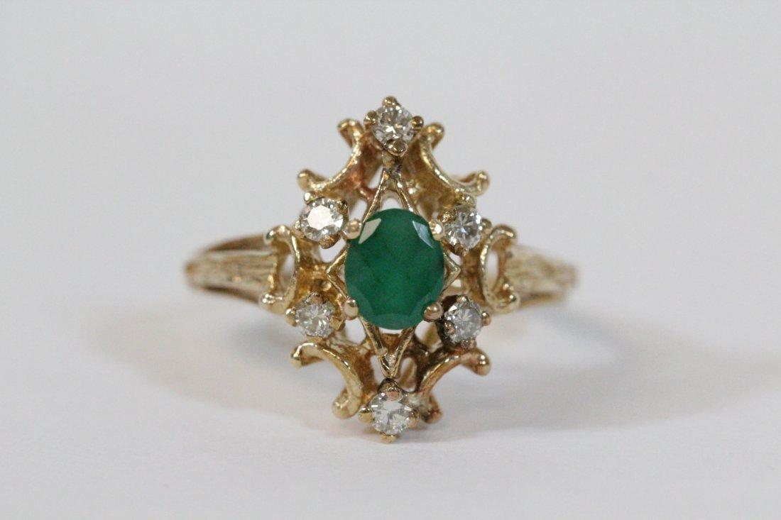 Victorian emerald and diamond ring
