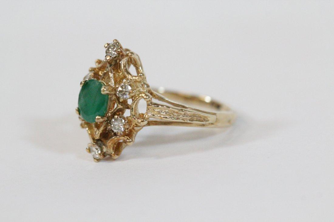 Victorian emerald and diamond ring - 2