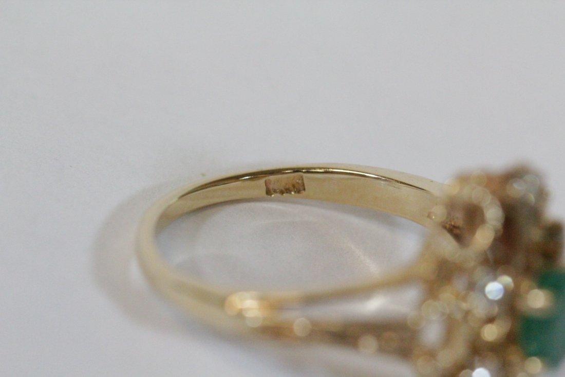 Victorian emerald and diamond ring - 5
