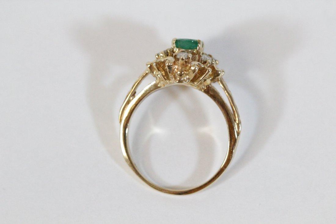 Victorian emerald and diamond ring - 6