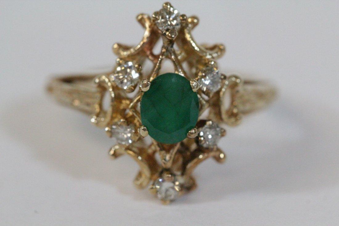 Victorian emerald and diamond ring - 8