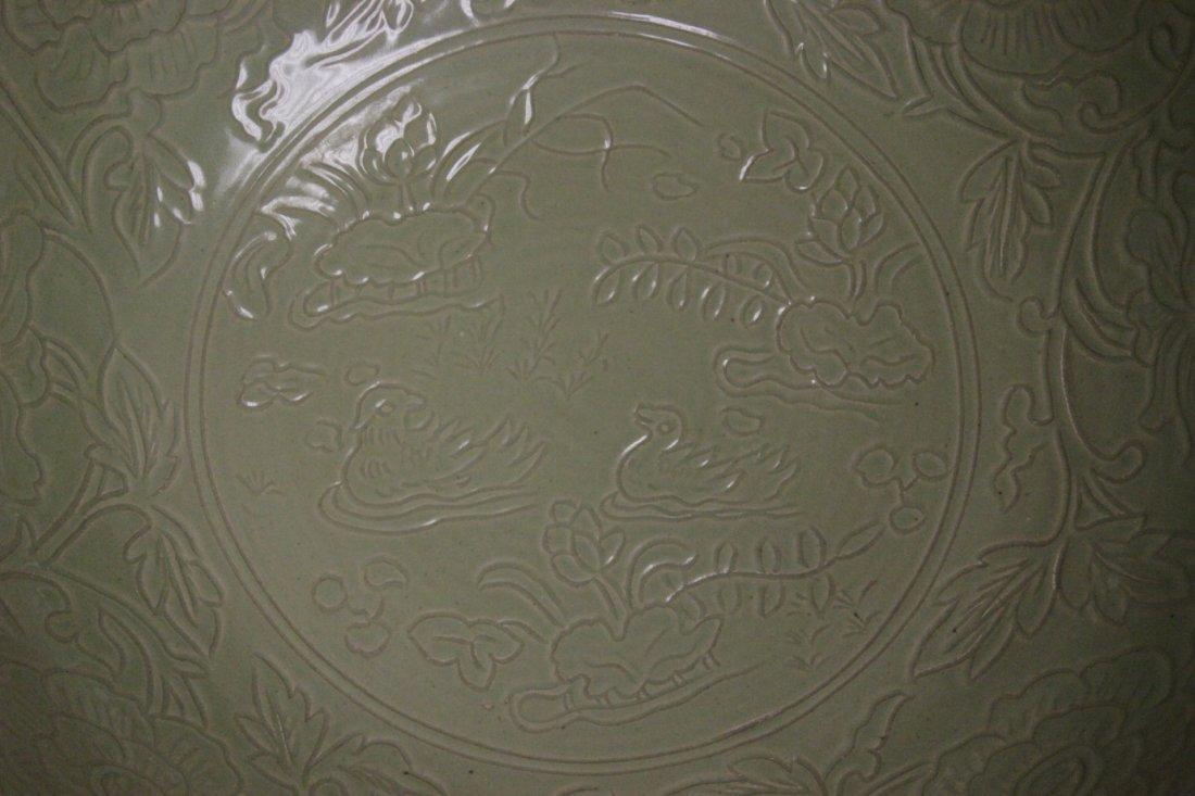 A massive Chinese celadon porcelain bowl - 10