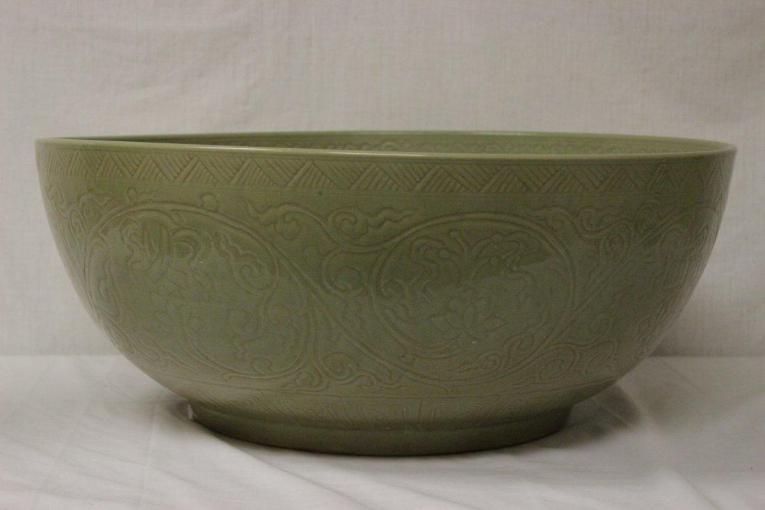 A massive Chinese celadon porcelain bowl - 2