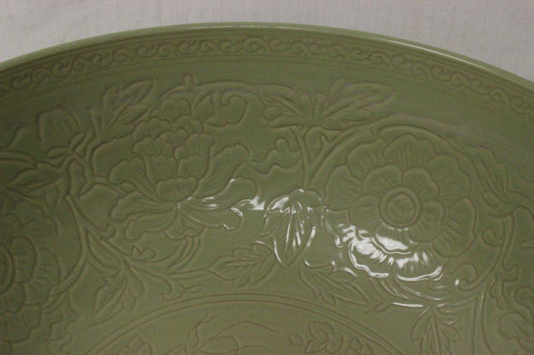 A massive Chinese celadon porcelain bowl - 3