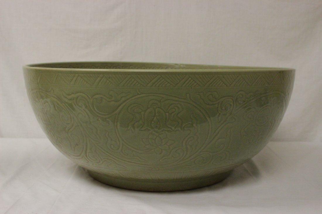 A massive Chinese celadon porcelain bowl - 5