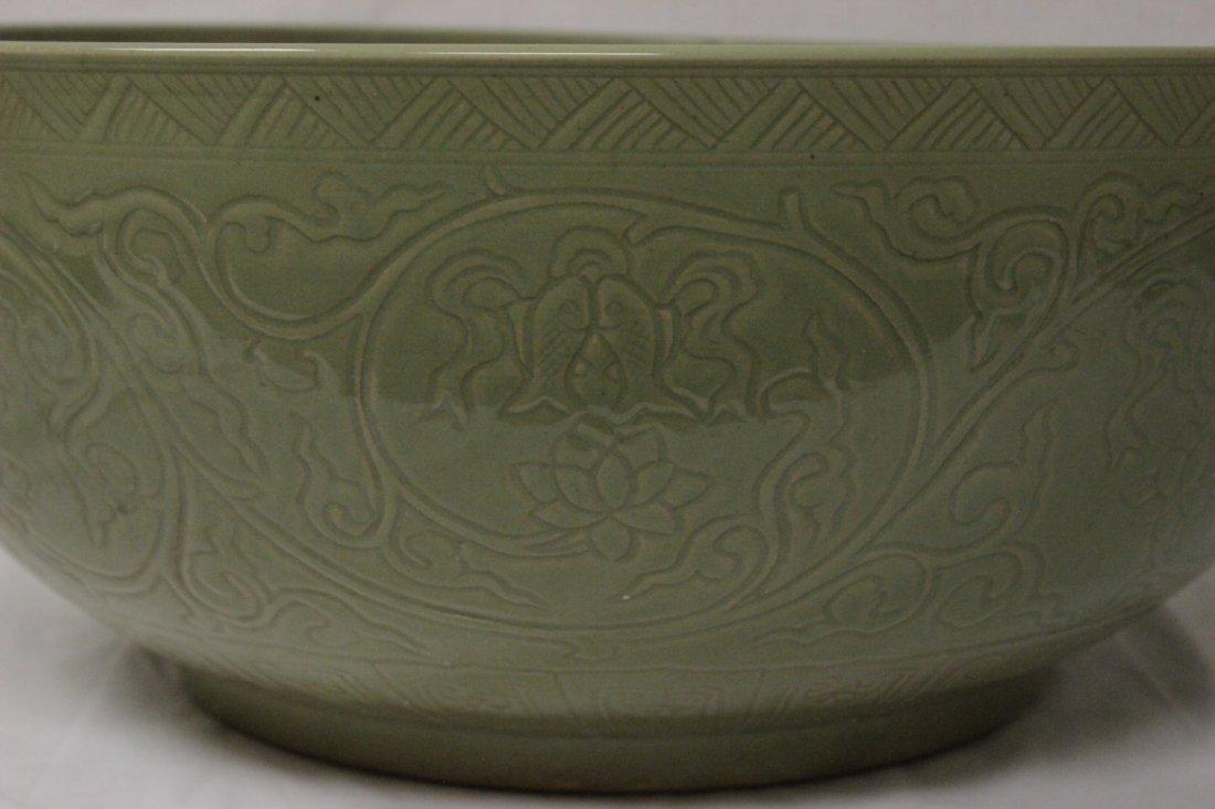 A massive Chinese celadon porcelain bowl - 6