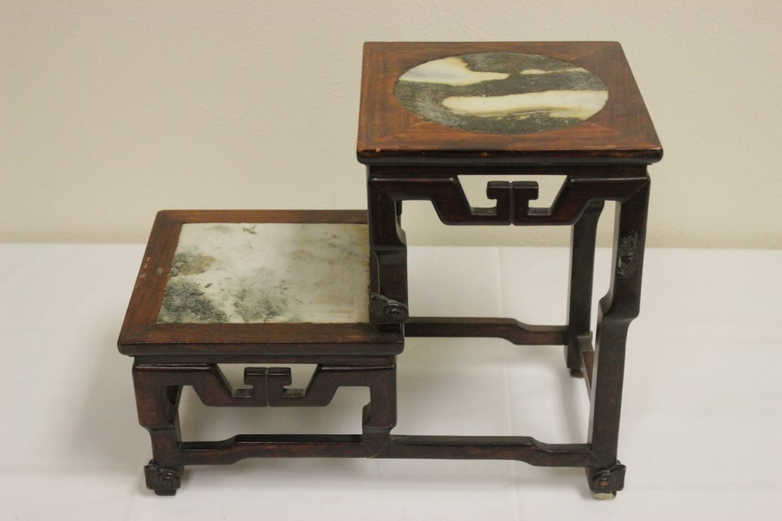 Antique Chinese rosewood pedestal stand