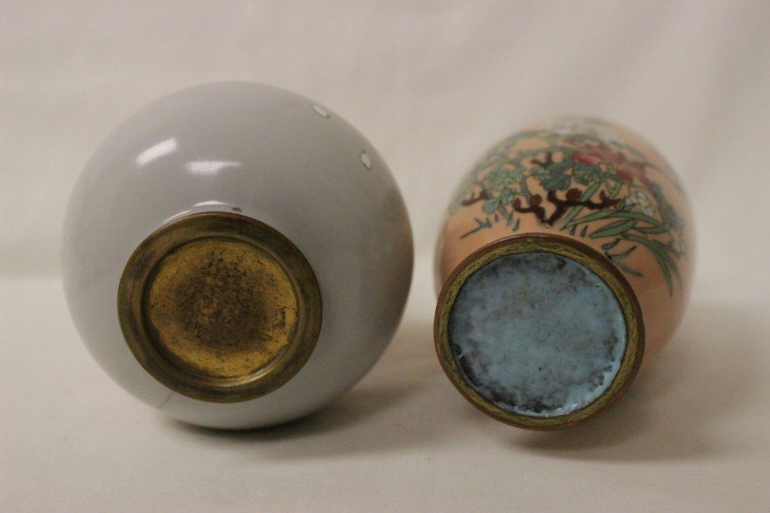 2 antique Japanese cloisonne vases - 10