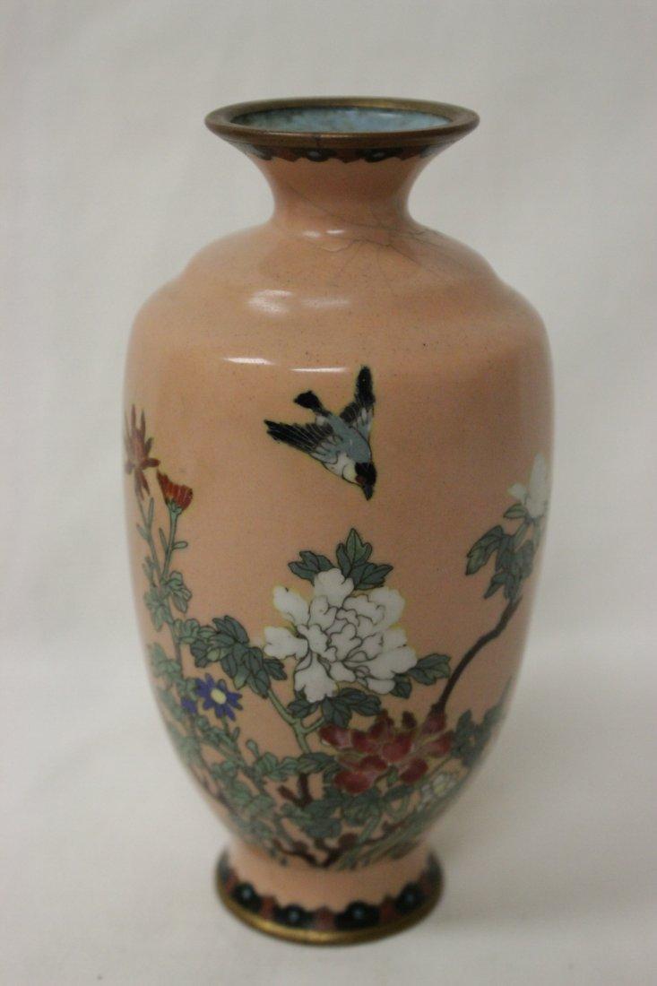 2 antique Japanese cloisonne vases - 2