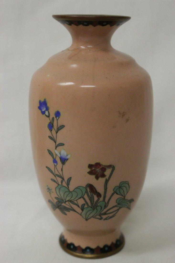 2 antique Japanese cloisonne vases - 3