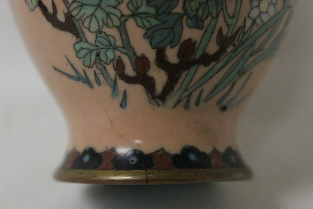 2 antique Japanese cloisonne vases - 5