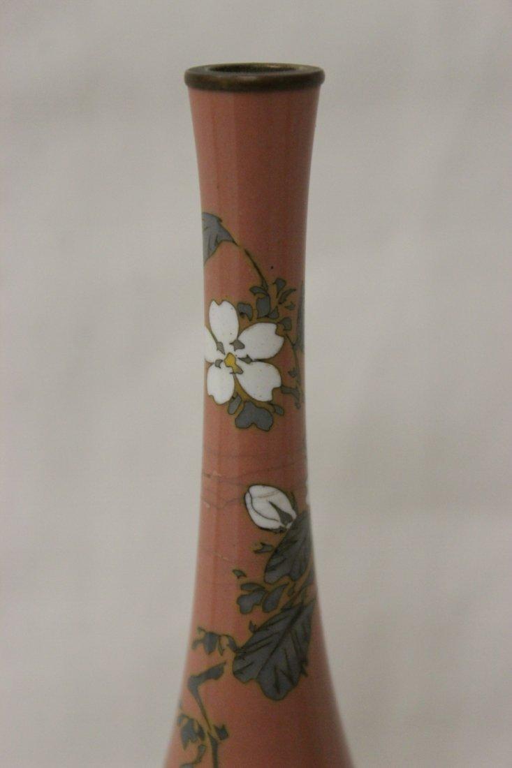 2 antique Japanese cloisonne vases - 8
