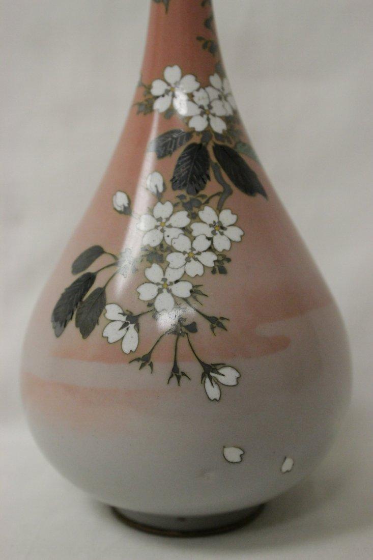 2 antique Japanese cloisonne vases - 9