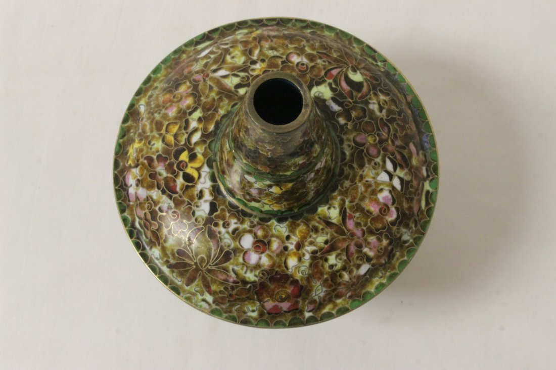 Unusual Chinese cloisonne censer - 10