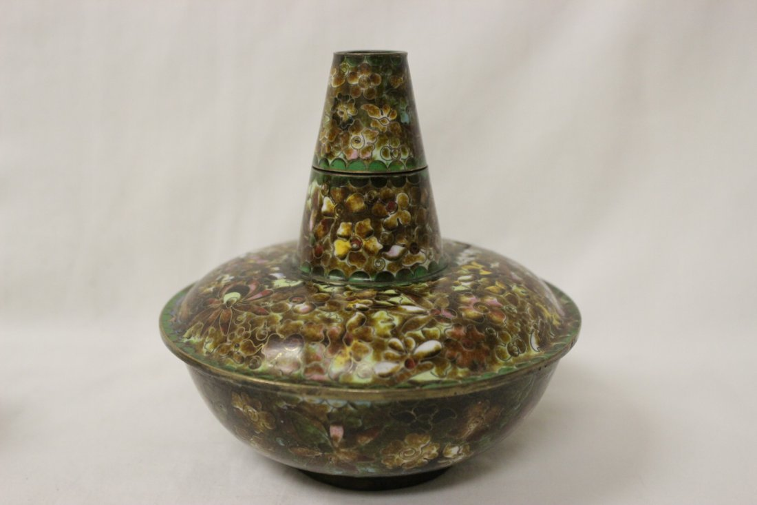 Unusual Chinese cloisonne censer - 5