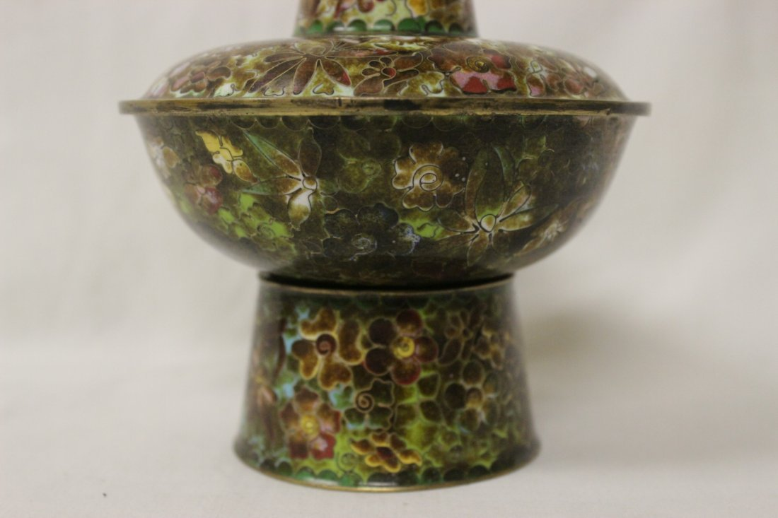 Unusual Chinese cloisonne censer - 8