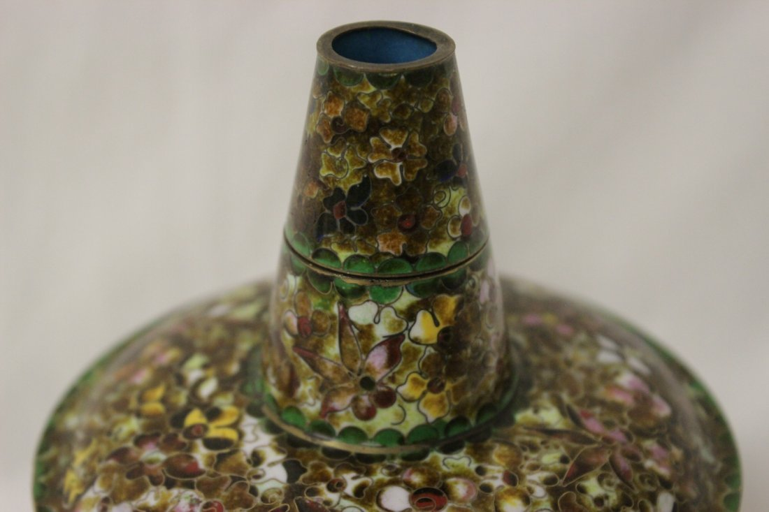 Unusual Chinese cloisonne censer - 9