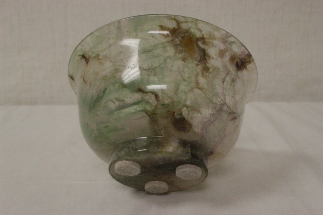 Fine Chinese rock crystal carved bowl - 6