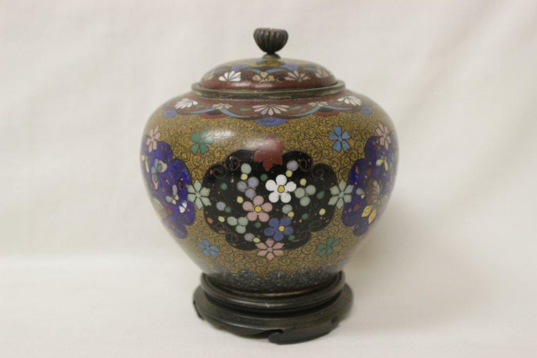 4 antique Japanese cloisonne pieces - 2