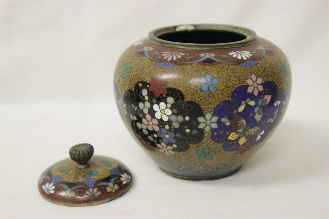 4 antique Japanese cloisonne pieces - 3