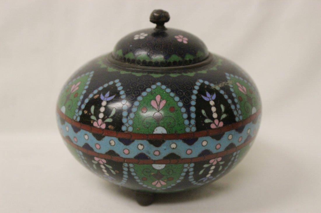 4 antique Japanese cloisonne pieces - 4