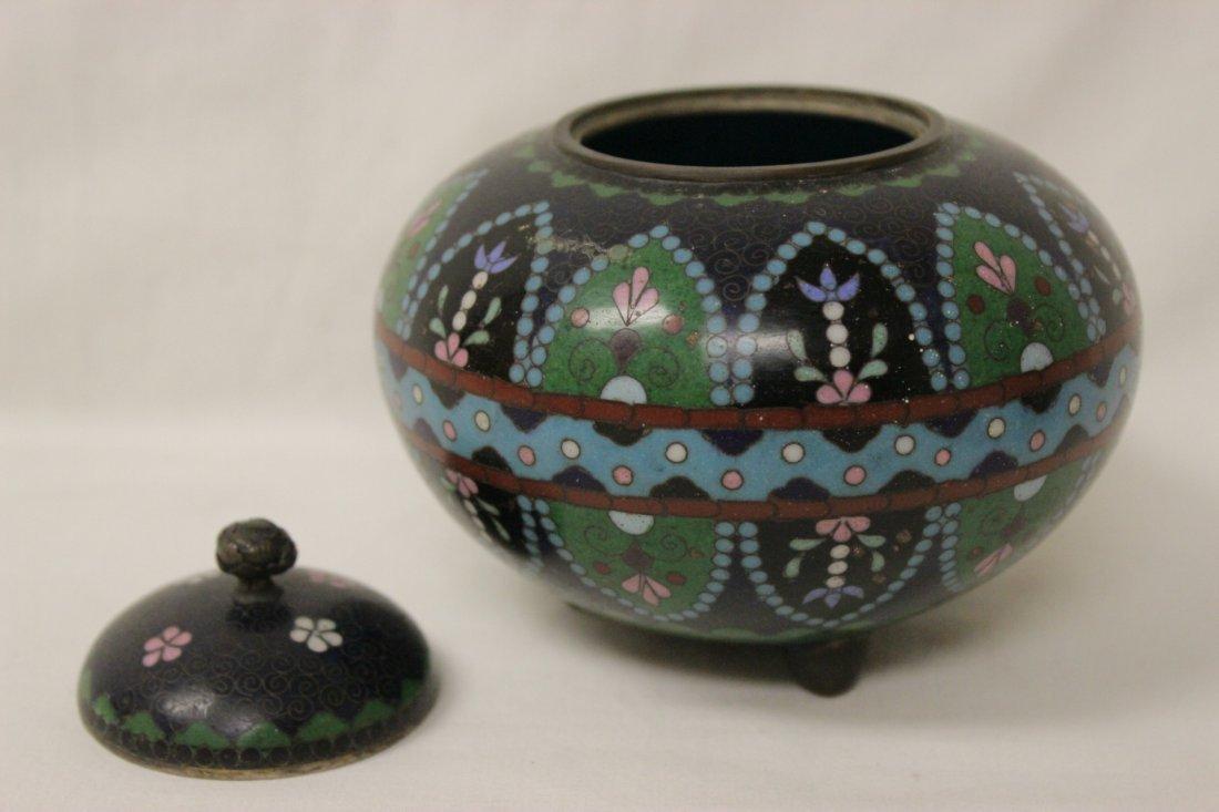 4 antique Japanese cloisonne pieces - 5