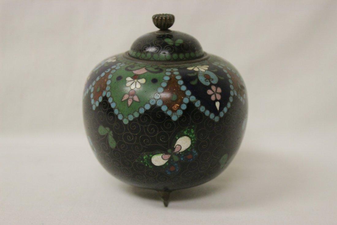 4 antique Japanese cloisonne pieces - 6