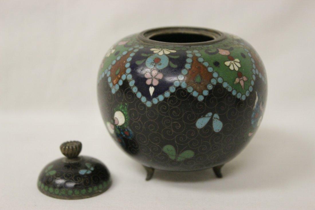 4 antique Japanese cloisonne pieces - 7