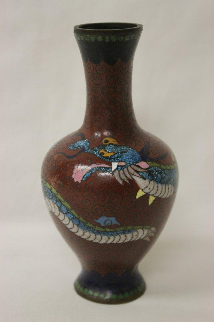 4 antique Japanese cloisonne pieces - 8