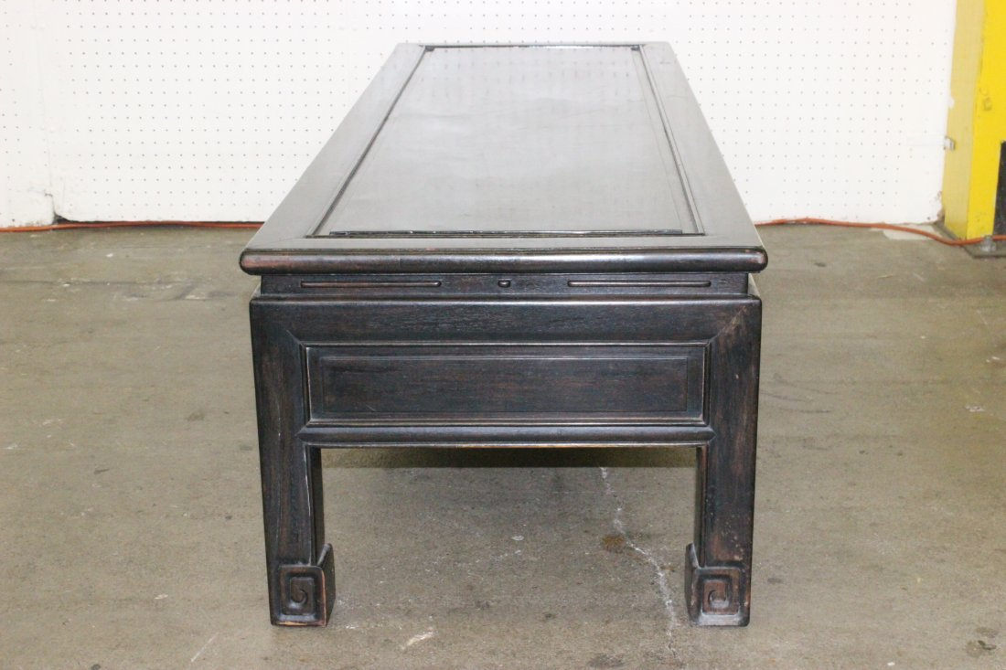 Chinese rosewood low table with drawers - 7