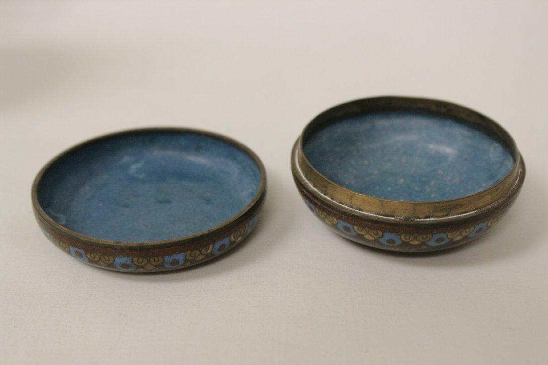 2 antique Japanese cloisonne pieces - 6