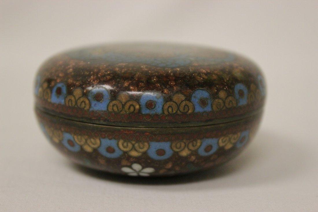 2 antique Japanese cloisonne pieces - 7