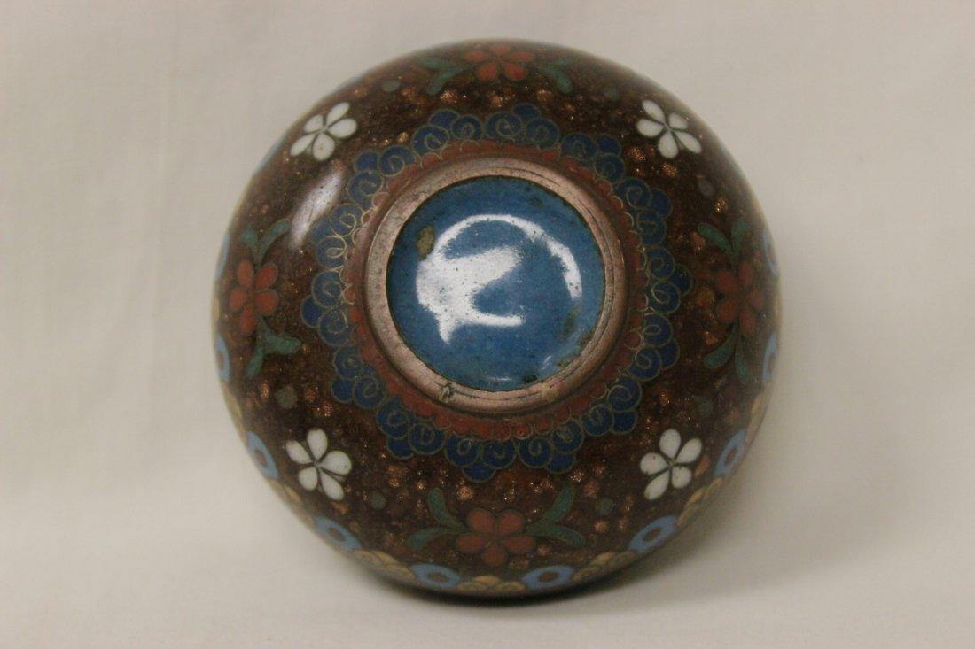 2 antique Japanese cloisonne pieces - 9