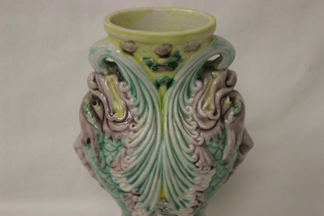 Chinese antique porcelain vase, Qianlong mark - 8