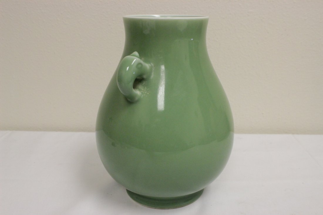 Fine Chinese celadon handled jar - 4