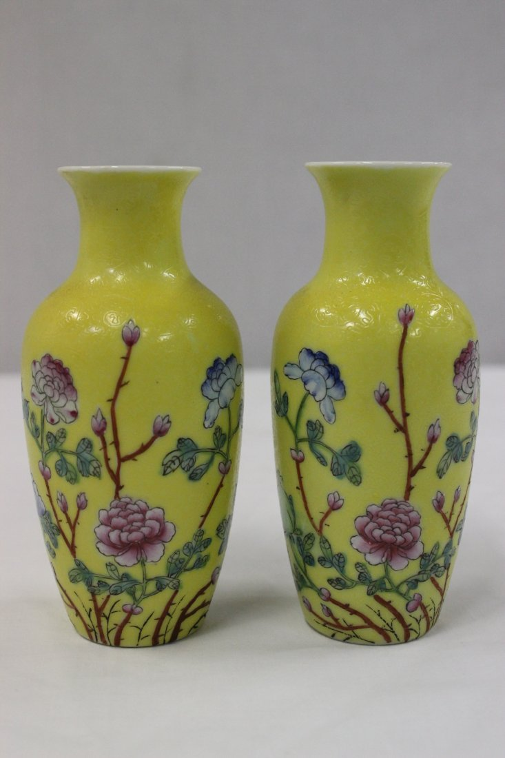 Pair Chinese early 20th c. export porcelain vases