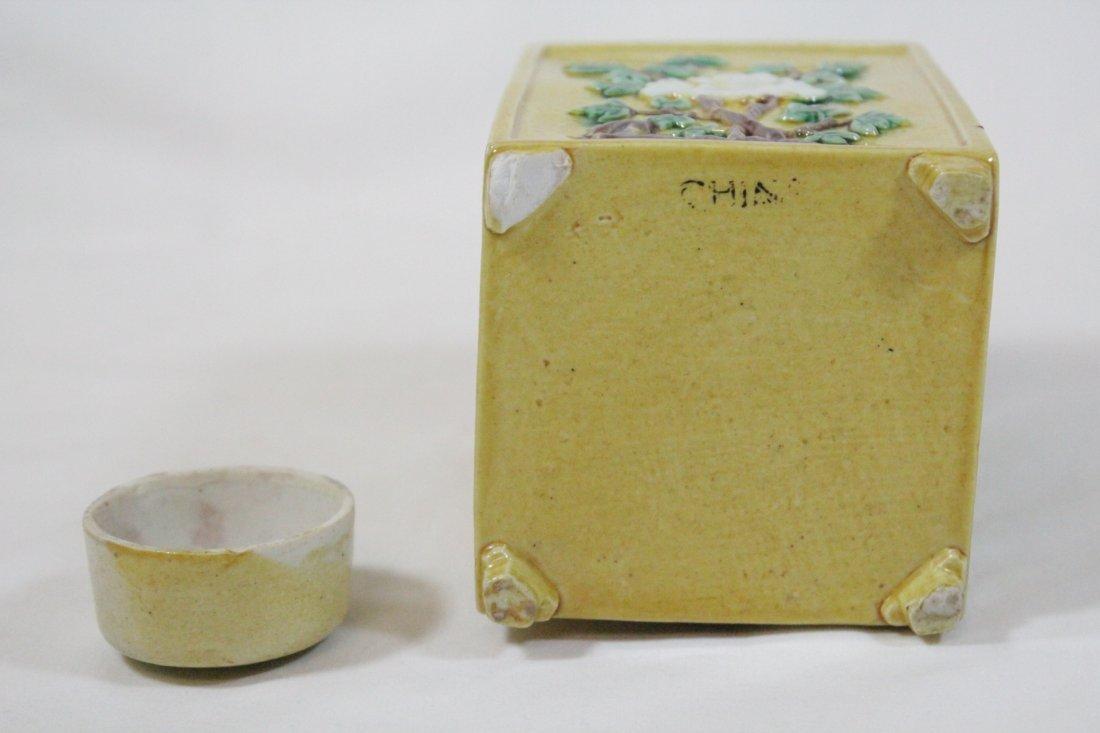 Chinese antique Fahua style porcelain tea caddy - 10