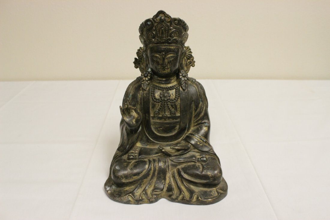 Chinese 19th/20th c. gilt bronze sculpture