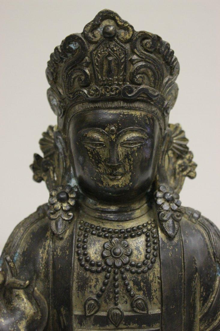 Chinese 19th/20th c. gilt bronze sculpture - 4