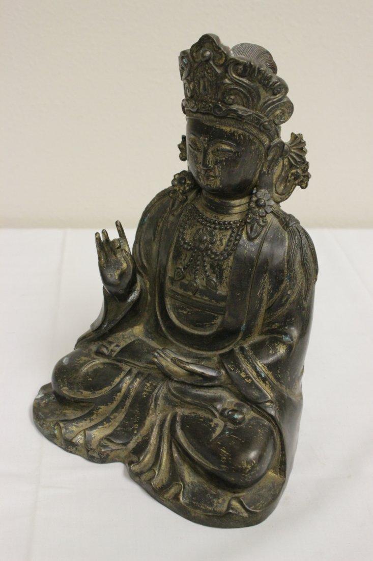 Chinese 19th/20th c. gilt bronze sculpture - 5