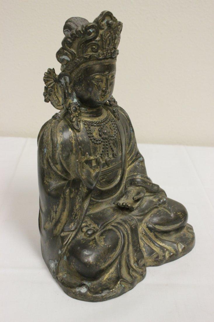 Chinese 19th/20th c. gilt bronze sculpture - 6