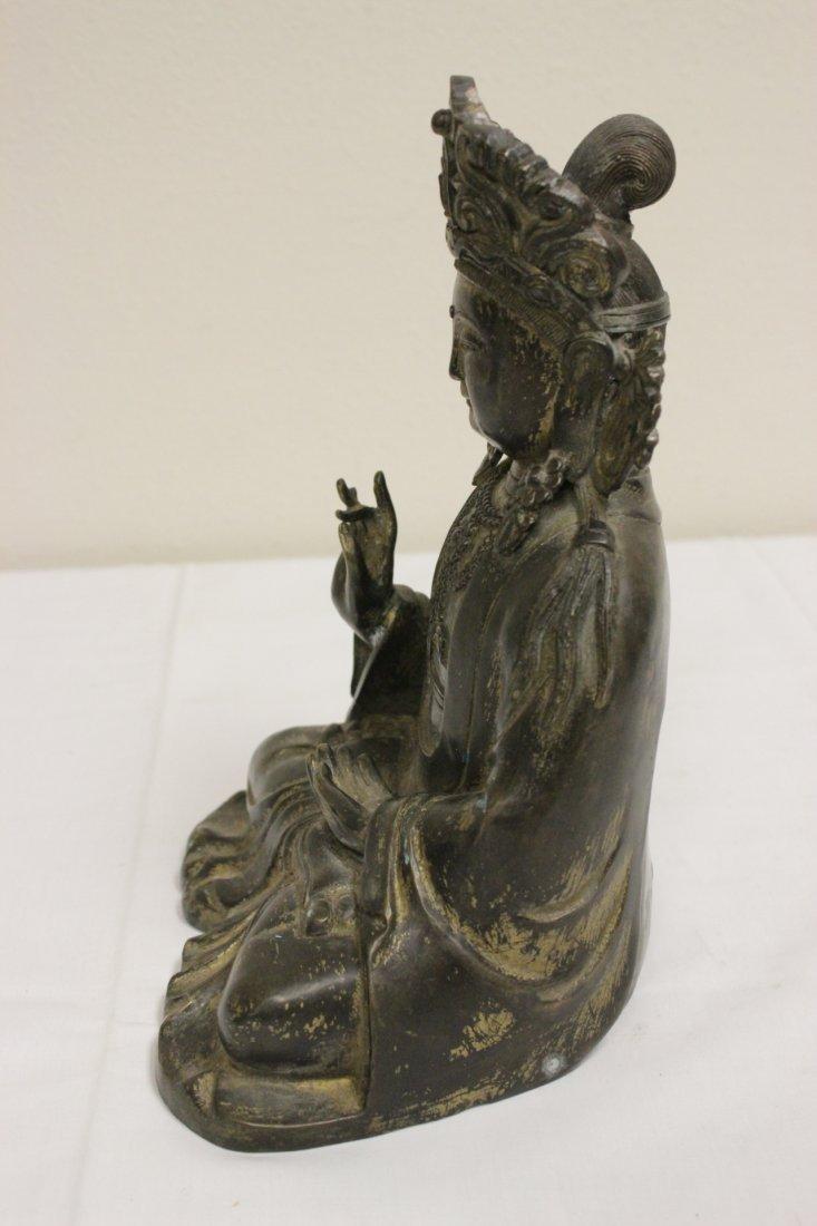 Chinese 19th/20th c. gilt bronze sculpture - 7
