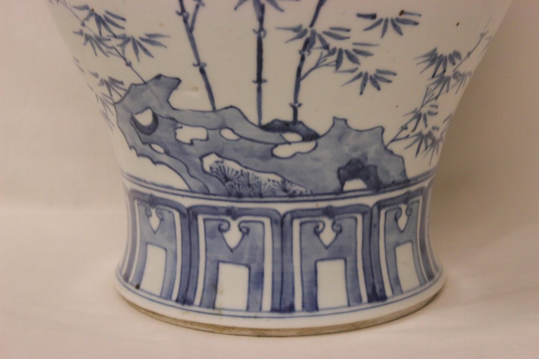 Chinese blue and white porcelain covered jar - 6