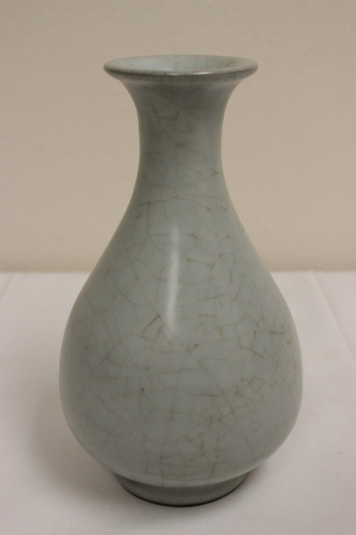Chinese Song style celadon bottle vase