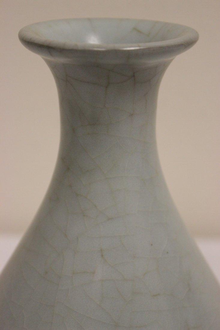 Chinese Song style celadon bottle vase - 4