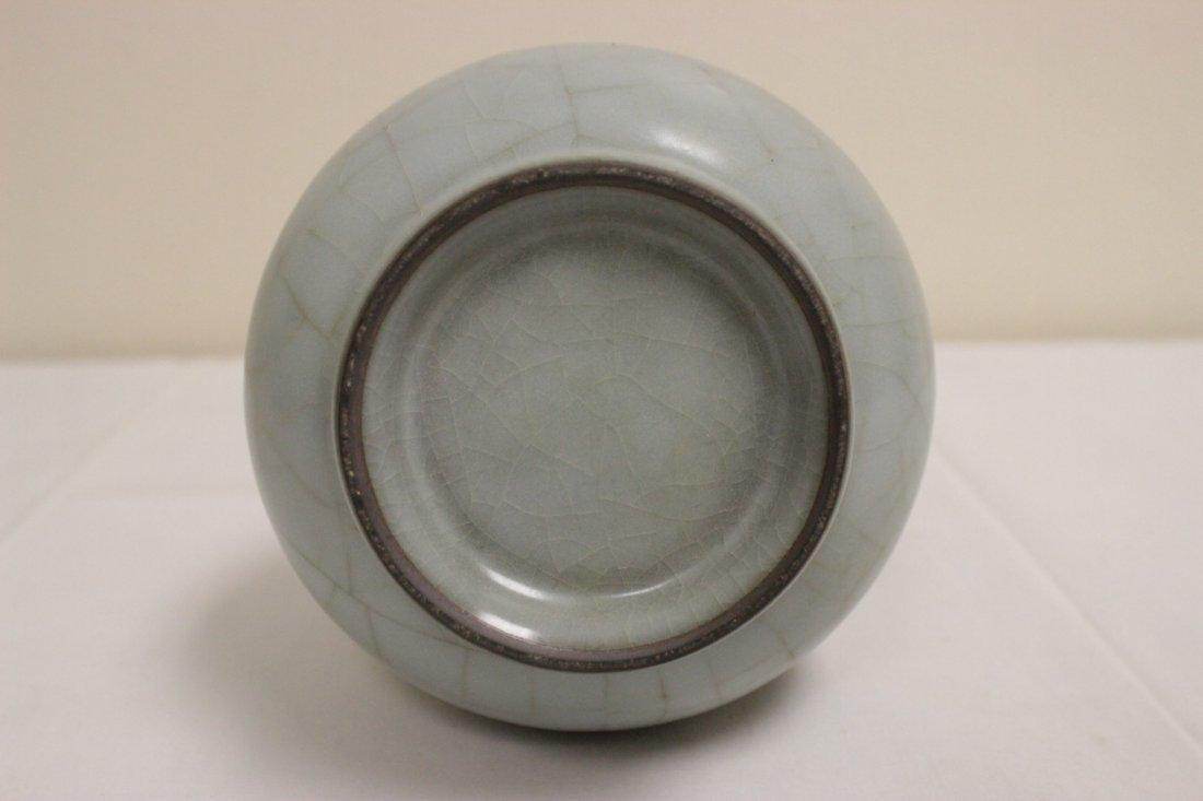 Chinese Song style celadon bottle vase - 7
